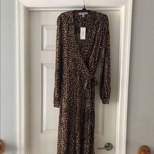 LK Bennett NWT  Viscose Knit Wrap Dress, US Sz 10